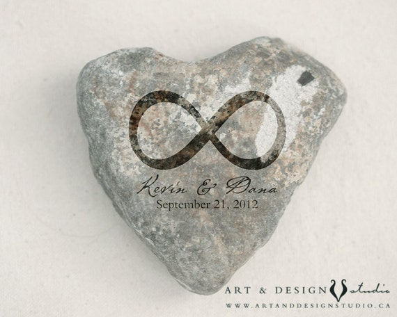Scottish Wedding Gifts: Celtic Wedding Gift Wedding Date Print Heart Rock Photo