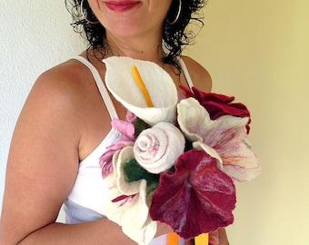 felted bridal bouquet -lifetime-