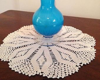 crochet cotton doily -cake- heirloom quality