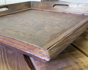 Square Ash Wood Serving Tray