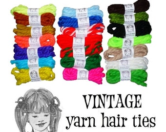 Summer Fun So Retro! Vintage Yarn Hair Ties Ribbons Cheerleader Cosplay Birthday Party Favors For Girls