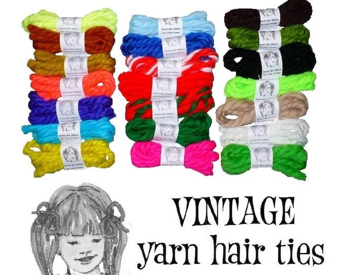 1970's Vintage Yarn Hair Ribbons Ties Fourth of July Retro Gertie Cosplay