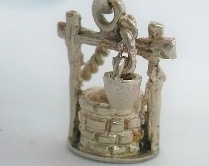 Wishing Well Silver Charm Vintage Industria Argentina