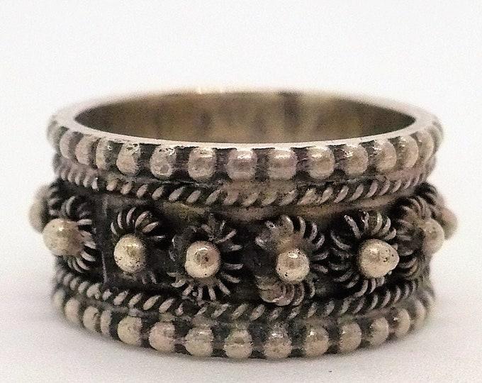 Bali Silver Band Ring Size 6