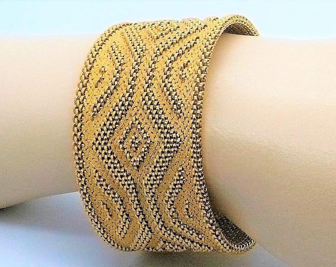 Vermeil Gold Mesh Bracelet Vintage Jewelry