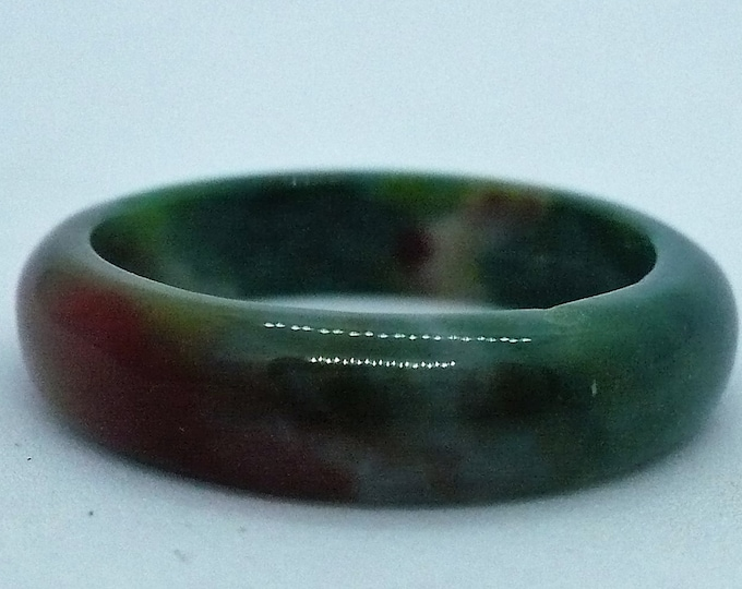 sz 8 Agate Stone Gemstone Stackable Band Ring