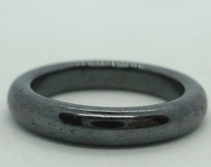 sz 7 1/2 Hematite Stone Gemstone Stackable Band Ring