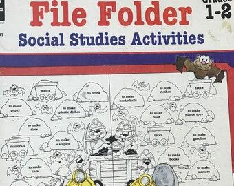 Grades 1-2 Social Studies File Folder Activities Teaching Supplies Curriculum Teaching Materials