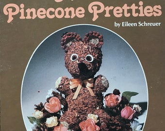 Pinecone Craft Book / Pinecone Pretties / Vintage Craft Supply / Get Lucky Vintage