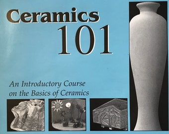 Ceramics 101 Craft Book / An Introductory Course on the Basics of Ceramics / Vintage Craft Supply / Get Lucky Vintage