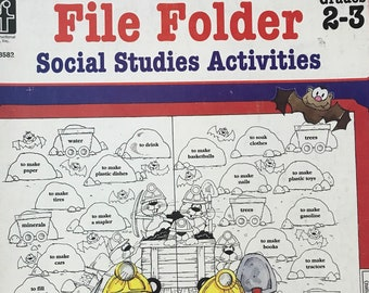Homeschool /Grades 2-3 Social Studies File Folder Activities / Teaching Supply / Get Lucky Vintage