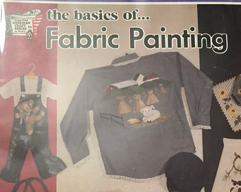 Fabric Painting The Basics Explained DIY Book Vintage Craft Supply
