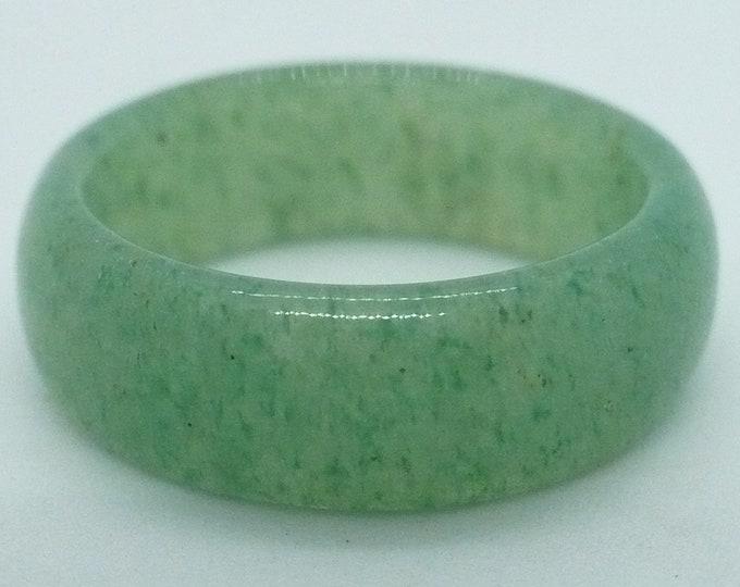 sz 8 3/4 Aventurine Stone Gemstone Stackable Band Ring