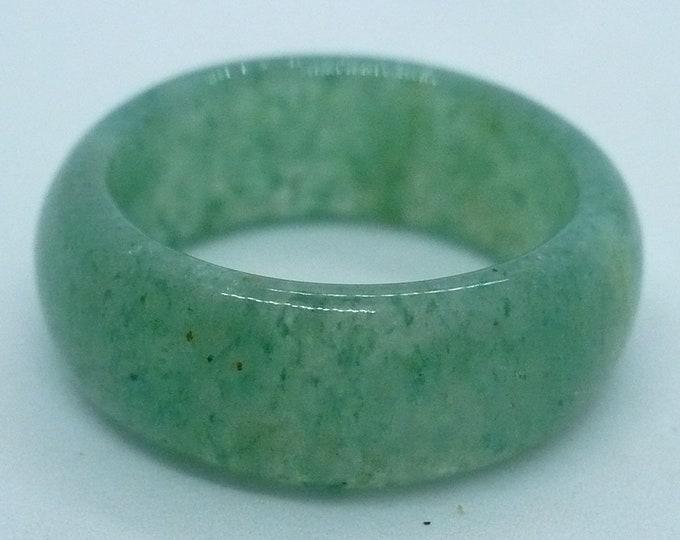 sz 7 1/4 Aventurine Stone Gemstone Stackable Band Ring