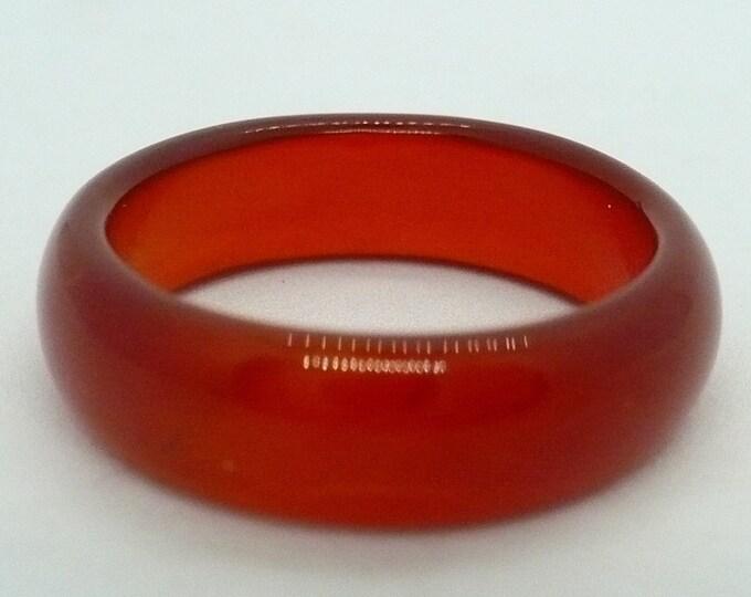 sz 8 1/2 Carnelian Stone Gemstone Stackable Band Ring