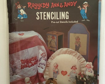 Stencils Raggedy Ann & Andy Patterns for Wood Fabric DIY Book Vintage Craft Supply Stenciling Printmaking