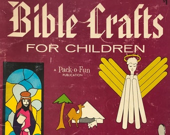 Bible Craft Book For Children / Kid's Crafts /  Vintage Craft Supply / Get Lucky Vintage