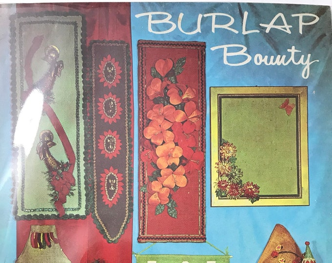 Burlap Bounty Vintage Craft Hobby Book