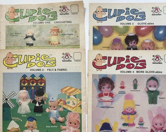 Cupie Doll Clothes Cupie Do's Projects Patterns Instructions Crochet Sewing Felt  DIY Book Vintage Craft Supply