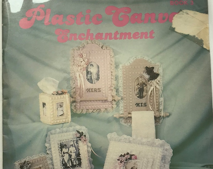 Plastic Canvas Enchantment Vintage Craft Hobby Book