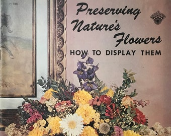 Dried Flowers Craft Projects Preserved Flowers Book DIY Vintage Craft Supply