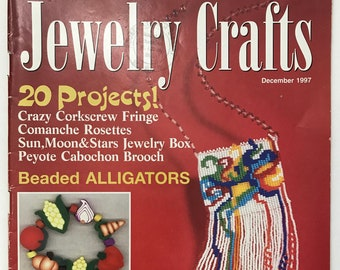 20 Jewelry Crafts Back Issue Book Beading Projects DIY Book Vintage Craft Supply