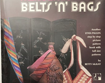 Belts Bags Craft Book / Corset Pattern / Sewing Craft Book Vintage / Craft Supply / Get Lucky Vintage