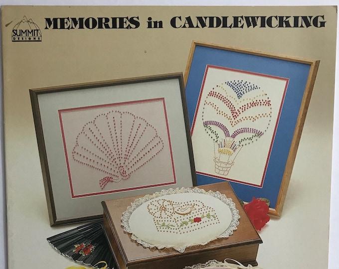 Candlewicking Memories Vintage Craft Hobby Book