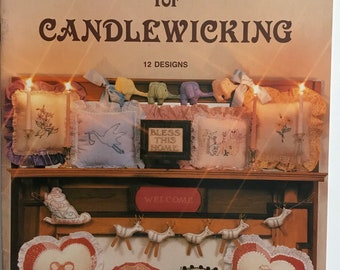 Candlewick New Baby Patterns Basset Hound Embroider DIY Book Vintage Craft Supply Candlewicking Christmas Baby Shower Gifts Nursery Decor