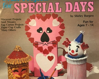 Kid's Craft Book / Special Days / Vintage Craft Supply / Get Lucky Vintage