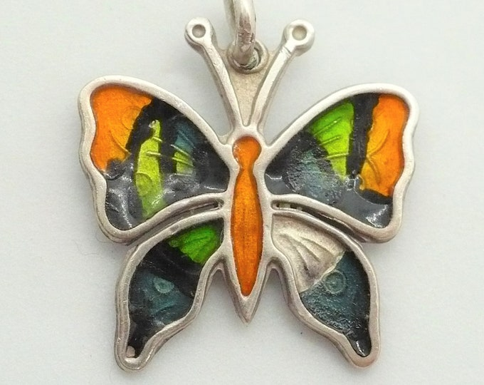 Butterfly Charm For Bracelet Sterling Silver Vintage Jewelry