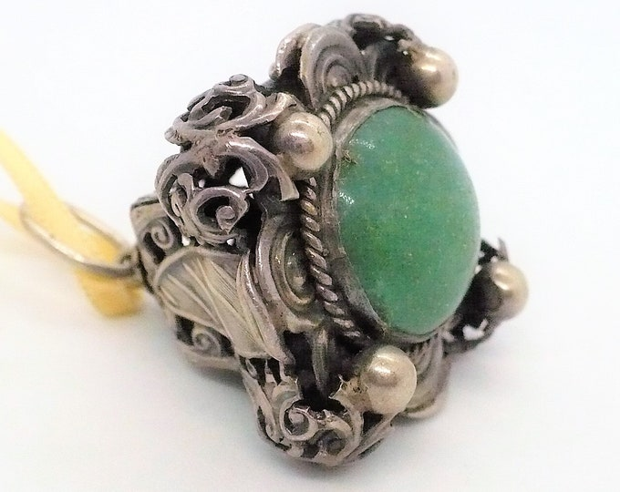 Victorian Watch Fob Drop with Jewel