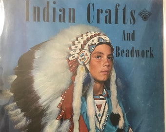 Beading Indian Crafts and Beadwork Adult & Kids' Projects DIY Book Vintage Craft Supply