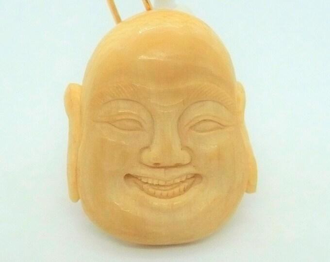 Antique Happy Buddha Carved Pendant