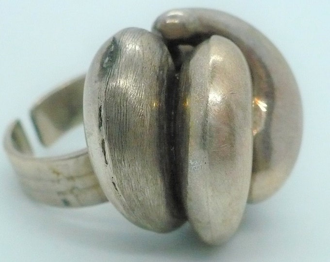 sz 6 1/2 Adj after Antonio Belgiorno Industria Argentina MCM Vintage Ring