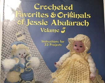 Crochet Doll Christmas Clown Patterns Projects DIY Book Vintage Craft Supply Crocheted Favorites & Originals of Jessie Abularach