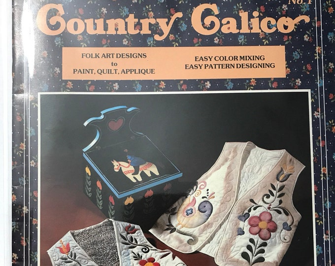 Tole Painting Craft Book Country Calico Vintage Craft Hobby Book