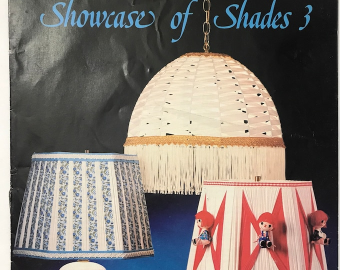 Showcase of Shades Lampshades Vintage Craft Book
