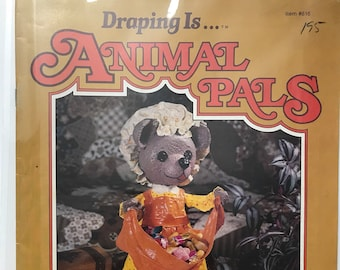 Animal Fabric Draping Dolls Craft Doll Making Craft Patterns Projects DIY Book Vintage Craft Supply