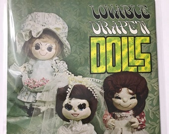 "Fabric Draping Dolls ""Lovable Drape'n Dolls"" Craft Doll Making Craft Patterns Projects DIY Book Vintage Craft Supply"