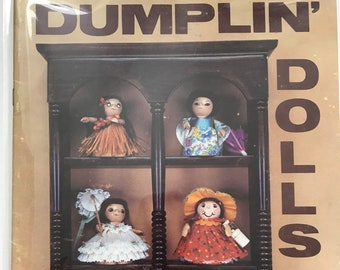 Fabric Draping Dolls Figurine Craft Dumplin' Dolls Doll Making Craft Patterns Projects DIY Book Vintage Craft Supply PD-3021