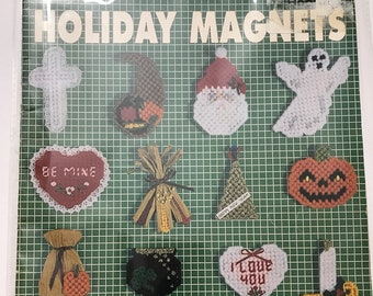 Easter July 4th Plastic Canvas Holiday Refrigerator Magnets Craft Graph Patterns DIY Book Vintage Craft Supply