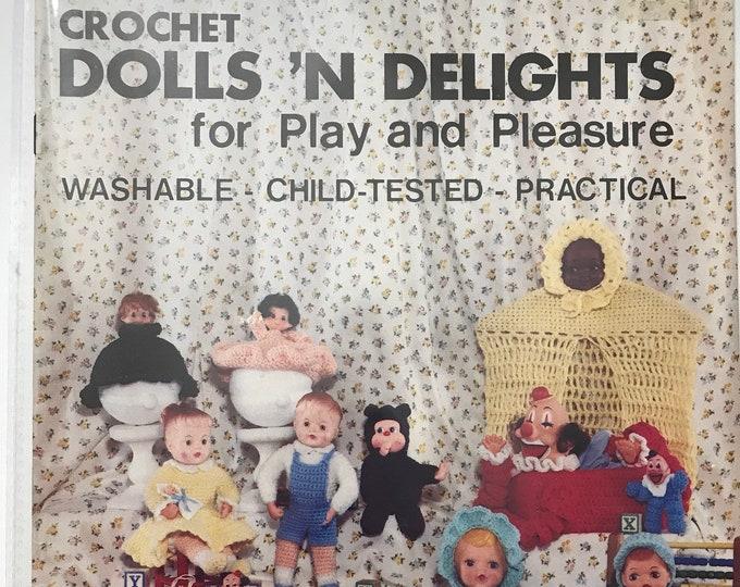 Dolls 'N Delights For Play & Pleasure Vintage Craft Hobby Book