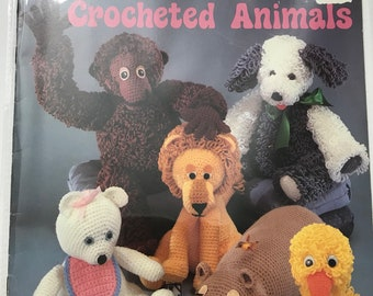 Cuddly Crocheted Animals Crochet Patterns Projects DIY Book Vintage Craft Supply