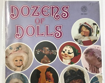 Dozens of Dolls Lamp Bottle Dolls Wall Plaque Doll Making Patterns Projects DIY Book Vintage Craft Supply