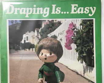 Fabric Draping Is... Easy Dolls Craft Doll Making Craft Patterns Projects DIY Book Vintage Craft Supply