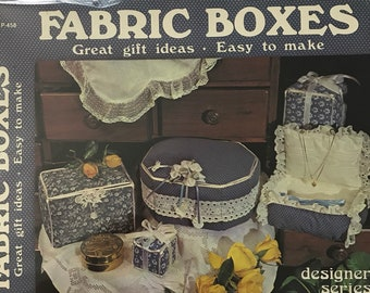 Fabric Boxes Craft Sewing Patterns Sewing Gift Projects DIY Book Vintage Craft Supply