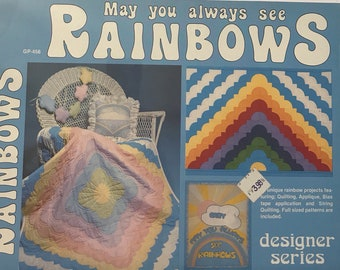 Rainbow Craft Book / May You Always See Rainbows / Vintage Craft Supply / Get Lucky Vintage