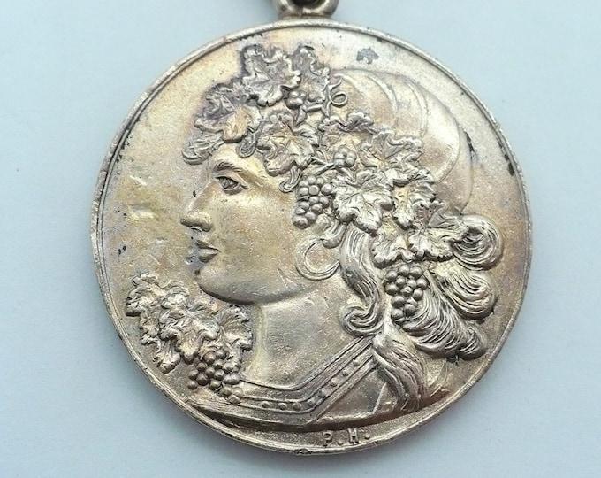 1896 Commemorative Medallion Exposicion Recuerdo de la Exposicion Vinicola Italia Argentina