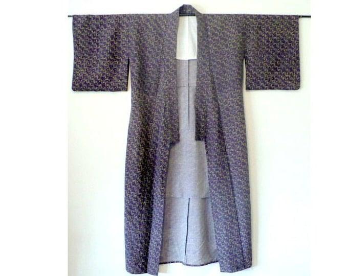 Kimono 1940's Vintage Long Robe